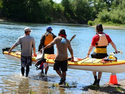 Team Kayak Connection.  Photo by Lisa Thomas.