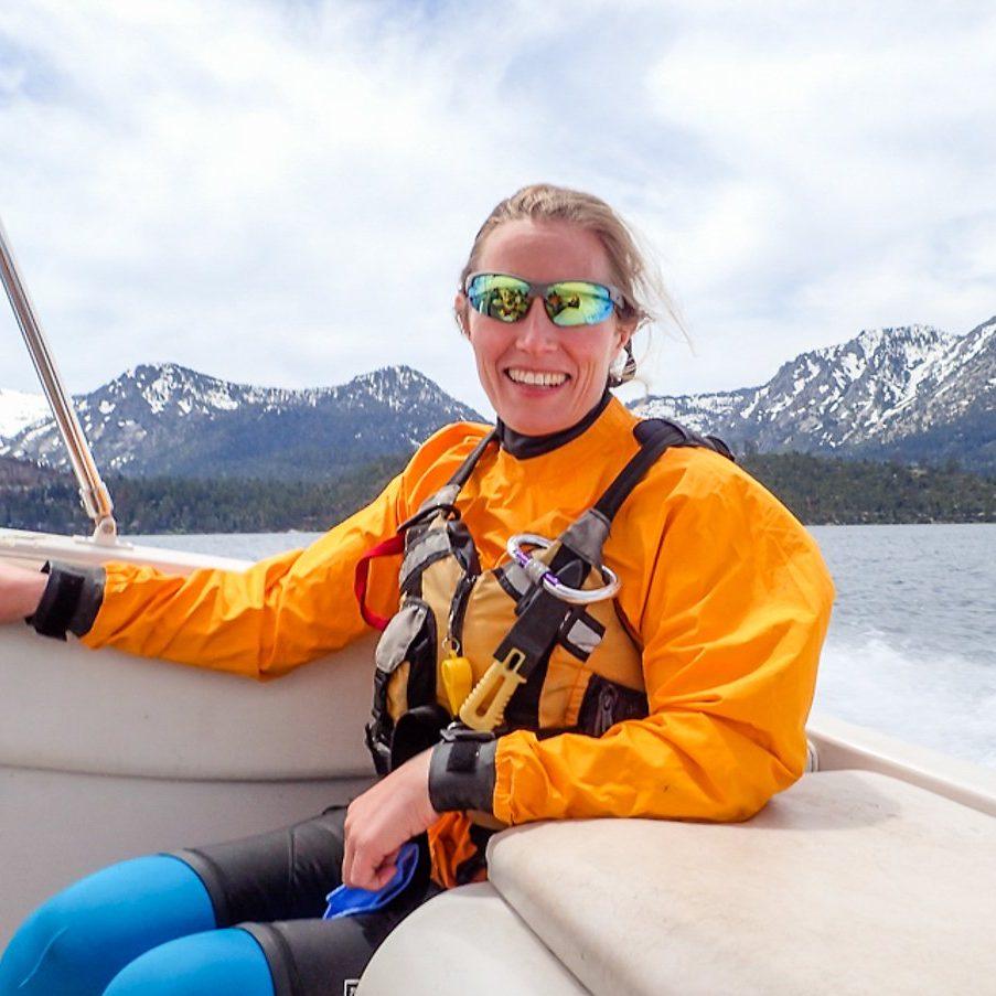 Danielle on Lake Tahoe