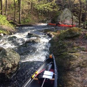 thin water through a rock chute