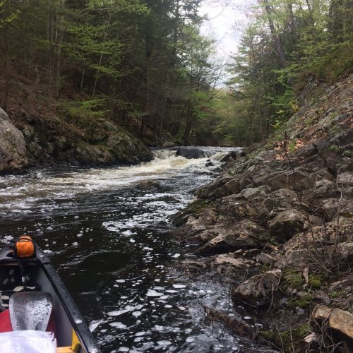 The gorge near Route 102, one of the most anticipated rapids of the trip