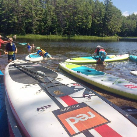 Paddleboarders on the Lamprey River
