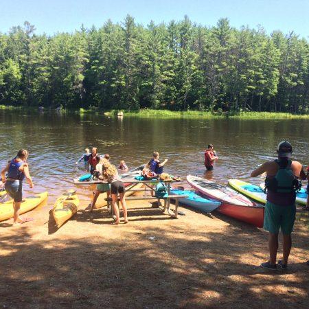Taking a break from the Lamprey River