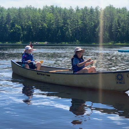 Canoe on the Lamprey River