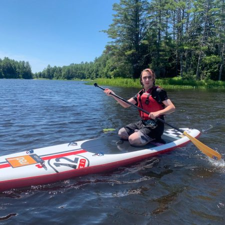 Paddleboarder on the Lamprey River