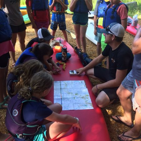 Mapping the route on the Lamprey RIver