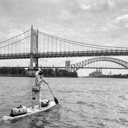 paddling bay a couple of bridges