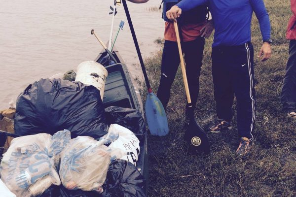Big cleanup on the river