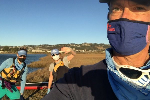 masks on the river in covid times