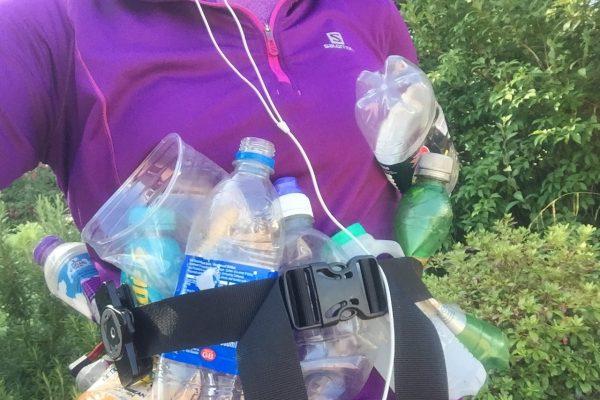 bottles and bottles of trash