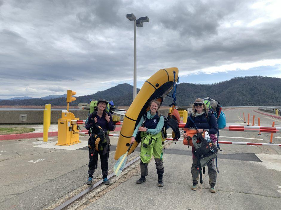 The Team portages Shasta Dam