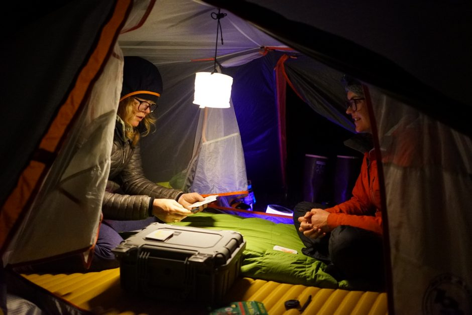 Evening camp time