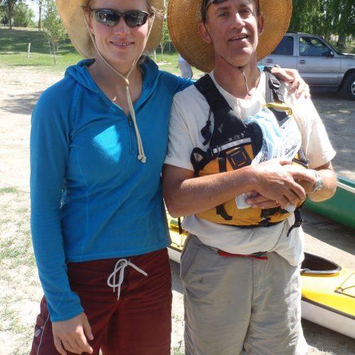 John and Danielle on the Tuolumne 2011